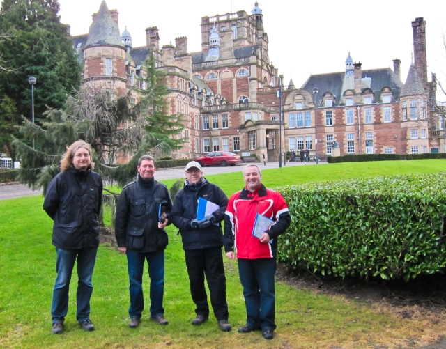 SNP candidates for Councillor, David Key and Sandy Howe on a site tour this last weekend