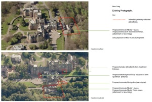 Aerial view of the boiler houses proposed to be demolished. Click to see full detail