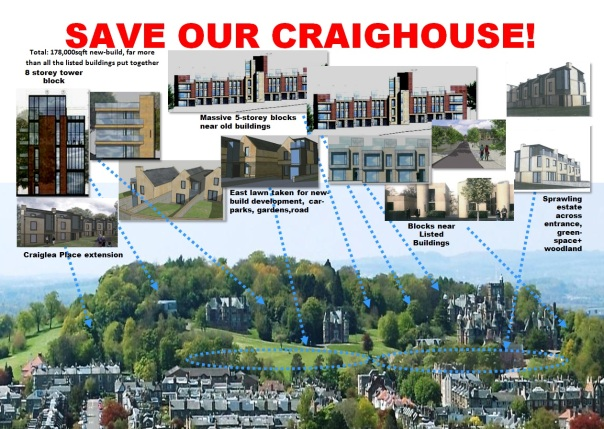 The Save Our Craighouse Poster.